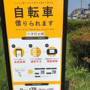 宇津貫公園に貸自転車