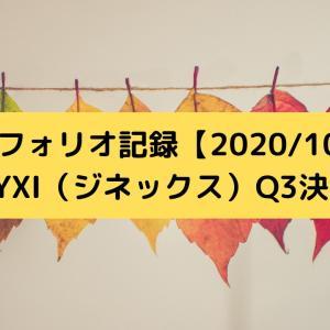 ポートフォリオ記録【2020/10/28】/ZYXI(ジネックス)Q3決算