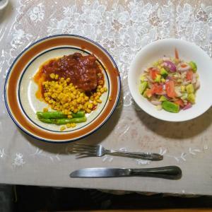 昨日の夕飯を作った