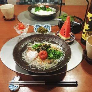 猛暑の晩のにゅう麺