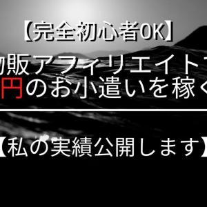 【完全初心者OK】物販アフィリエイトで月3万円のお小遣いを稼ぐ方法【私の実績公開します】