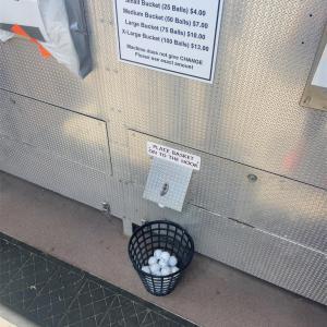 アメリカでゴルフ打ちっぱなし