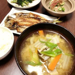 『焼魚&冷奴・豚汁もどき』作ってみたぁぁ~~。By yu→