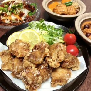 『鶏肉の竜田揚げ・ウインナー巻きの煮物』作ってみたぁ~。By yu→