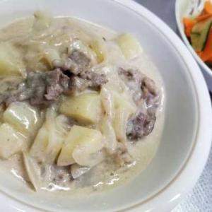 牛乳とチーズでちょいと濃厚に~クリーム煮でも作るか!