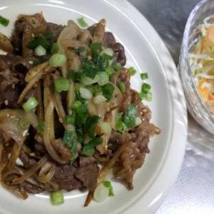 牛肉・ごぼう・ごま、相性よく組み合わせて~胡麻ドレ炒めでも作るか!