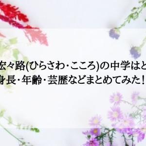 平澤宏々路(ひらさわ・こころ)の中学はどこ?身長・年齢・芸歴などまとめてみた!