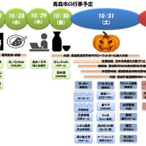 **青森市**週間予定ページ(10/26-11/1) #商品券 #ハロウィン #選挙