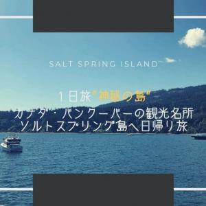 1日旅【神秘の島】カナダ・バンクーバーの観光名所ソルトスプリング島へ日帰り旅