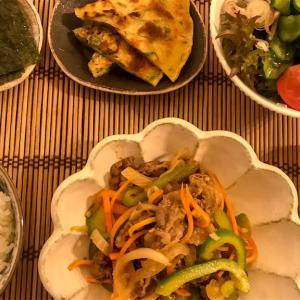 韓国風の食卓