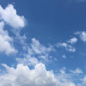 今日の雲 「梅雨明けって感じ」