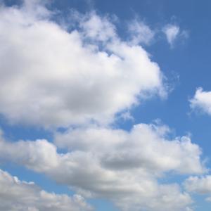 今日の雲 「夏、顔、飛行機雲」