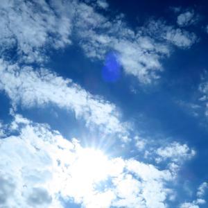 今日の雲 「ごめんね。後半は太陽だけ。」
