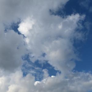 今日の雲 「海の日は平日です。」