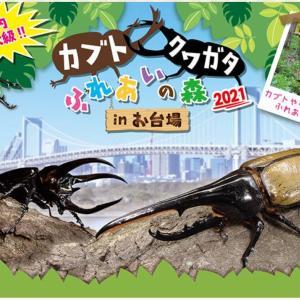 【台場】カブト・クワガタふれあいの森2021がデックス東京ビーチで開催中!