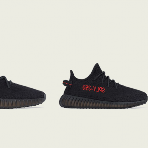 "【12/5再販】ADIDAS YEEZY BOOST 350 V2 ""CORE BLACK / SOLAR RED""(2020)"