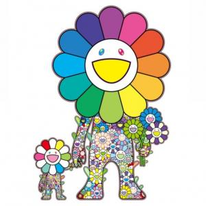 【1/17 10:00~】村上隆 新作版画『お花の親子』