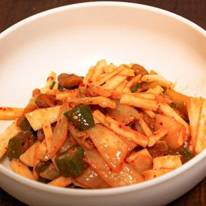 【今日のおつまみ】納豆とキムチのネバネバ和え