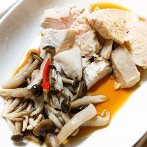 【今日のおつまみ】鶏むねマース煮のポン酢掛け