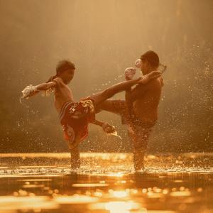 【#95】いつも中庭でボクシングをしている人がいる。