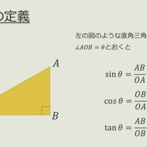 三角比【入門編】sin,cos,tanって何??