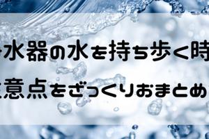 浄水器の水を持ち歩くのは大丈夫?そのまま飲む時の注意点とおすすめボトルまとめ!