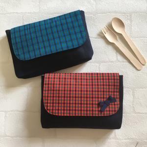 角が丸い、お弁当袋のフタの作り方(封筒型・フタつき・横入れタイプ)