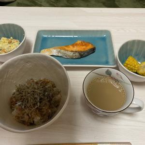 シンプルに、焼き鮭定食🐟