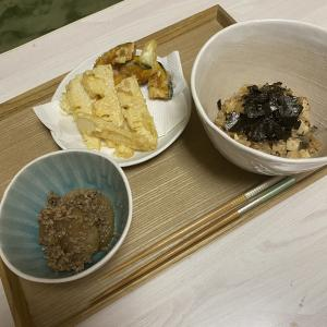 天ぷらと炊き込みご飯