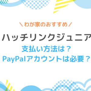 【ハッチリンクジュニア 】支払い方法は?PayPalアカウントは必要?
