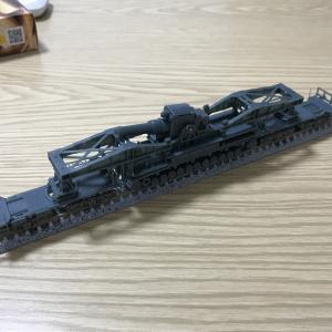 1/144 カール自走臼砲運搬貨車のNゲージ化4