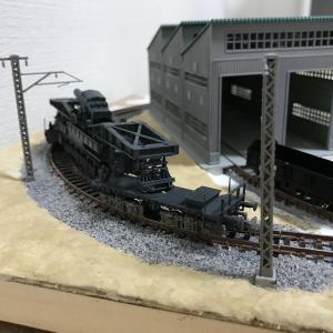 1/144 カール自走臼砲運搬貨車のNゲージ化5