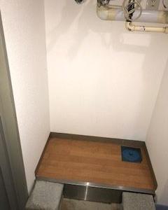 86日目、洗濯機の設置場所確保します。