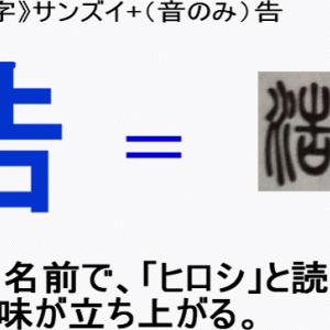 (条件付き)名前に使いたくない漢字「浩」の意味