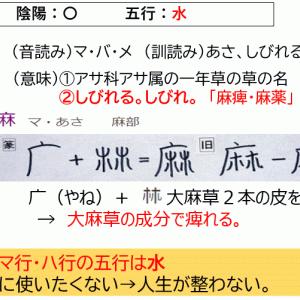 名前に使いたくない漢字「麻」の意味
