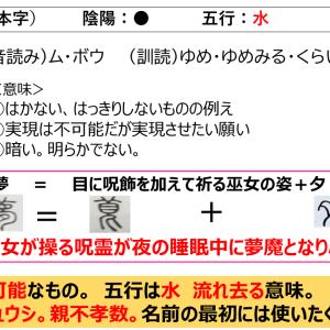 名前に使いたくない漢字「夢」の意味