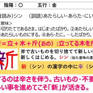 名前に使いたい漢字「新」の意味