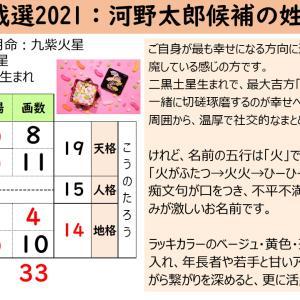 自民党総裁選2021:河野太郎候補の姓名鑑定