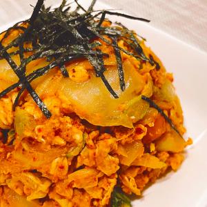 【オートミール米化】パラパラ!オートミールキムチ炒飯【ダイエット】チャーハン | オートミールレシピ | 糖質制限 | 作り方 | 米化