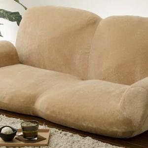 人用ソファが犬用ソファベッドになった。