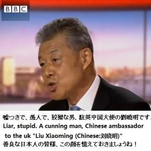 息を吐くように嘘をつく韓国政治家も負ける駐英中国大使『劉曉明 Liu Xiaoming』