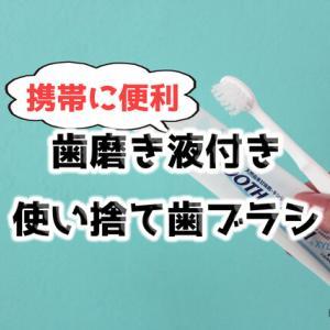 超おすすめ【ハミガキ液付き使い捨て歯ブラシ】携帯用に便利です!!