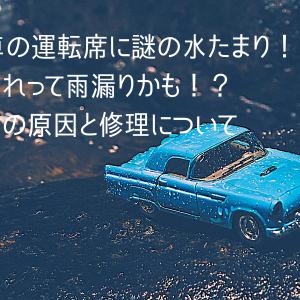 【車の雨漏り】運転席の足元に謎の水たまり!原因解明から修理まで