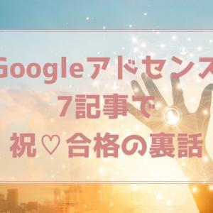 Googleアドセンス7記事で【祝】合格の裏話