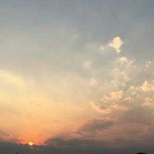 8-14 見事な夕日