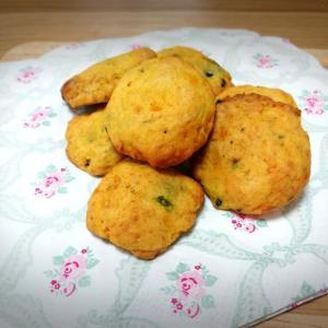 【食育】とっても簡単なピーマン&かぼちゃクッキー