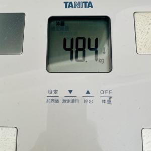 本日の体重と体脂肪率【7日目】