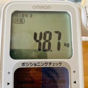 本日の体重と体脂肪率【9日目】