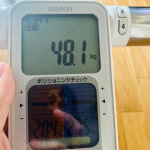 本日の体重と体脂肪率【10日目】