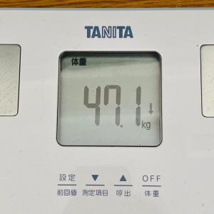 本日の体重と体脂肪率【13日目】